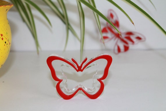Butterfly Napkin Ring Holders Napkin Rings Red Butterfly Wedding Decorations Easter Party Decor Butterflies Clear Acrylic Birthday Set of 12