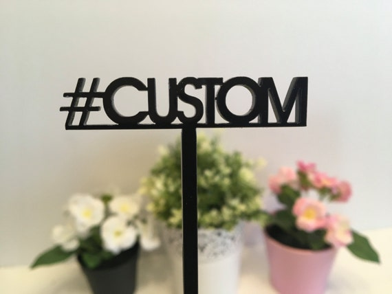 Custom hashtag Personalized hashtag sign Hashtag prop Your text here Table centerpiece Drink stirrers Cocktail swizzle stir sticks Hashtag #