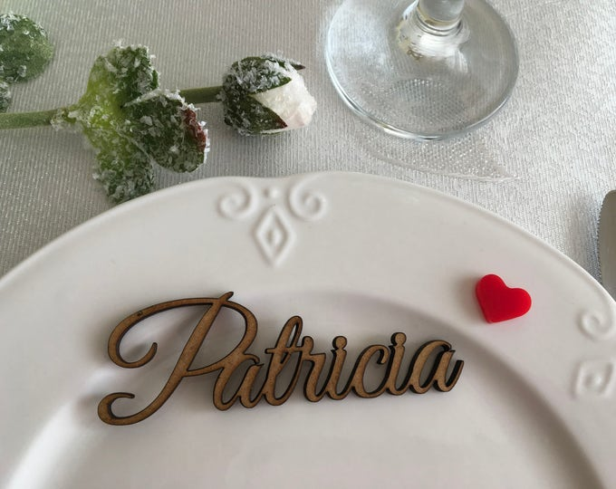 Personalized wooden names Wedding place cards Wood letters Custom signs Guest names Name place escort card Wedding centerpiece Seating plan
