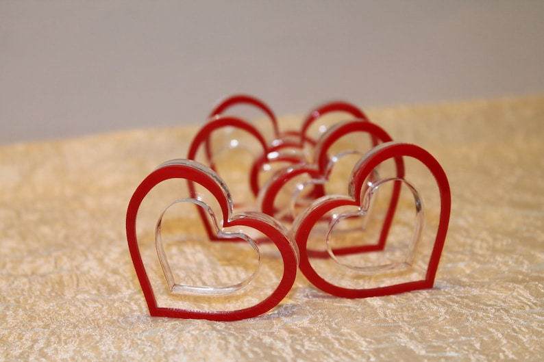 Valentine Centerpieces Napkin Ring Holders Red Heart Napkin image 0