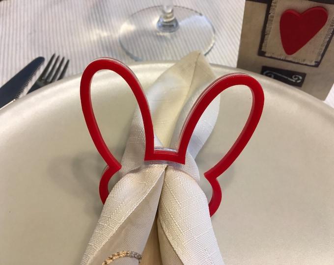 Easter Bunny Ears Napkin Rings Napkin Ring Holders Easter gift for children Dinner Party Decorations Settings Easter Rabbit Kids Party Favor