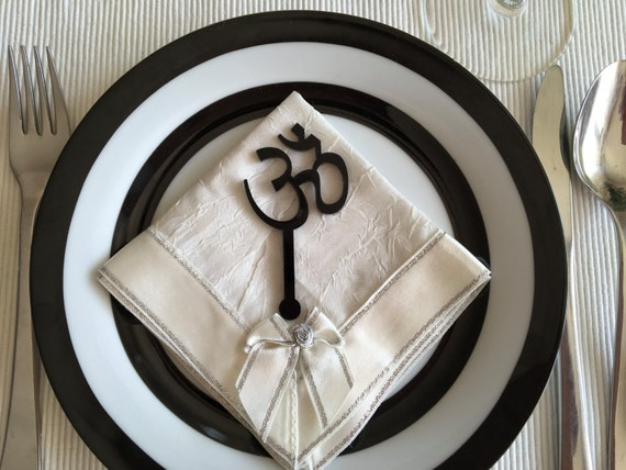 Laser cut yoga sign, Om Aum Yoga Namaste, Yoga symbol, Om Aum symbol, Namaste sign, Namaste sign on sticks, Yoga gift, Stir Stick, 02