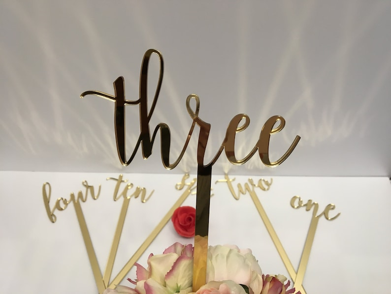 Large wedding table numbers Script numbers Acrylic table image 0