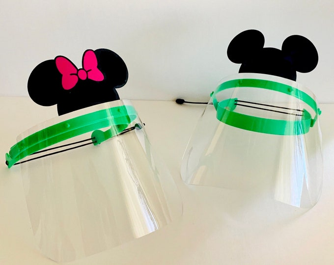 Full Face Shield Visor Protection for Kids and Adult Mickey Mouse, Face Mask Reusable Adjustable