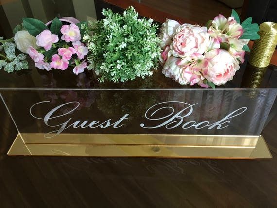 Clear acrylic guest book Wedding engraved guestbook Freestanding alternative guestbook Reception Decor Guest book Calligraphy table signs