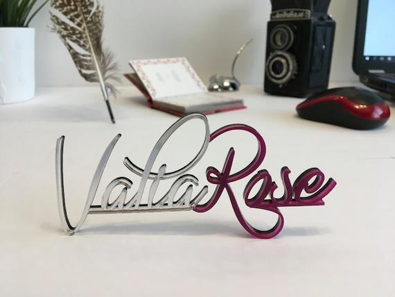 Custom Desk Name Business Logo Design, Hair Salon Logo, Business Signs Color Logo Laser Cut Calligraphy Logo Office decor Custom decorations