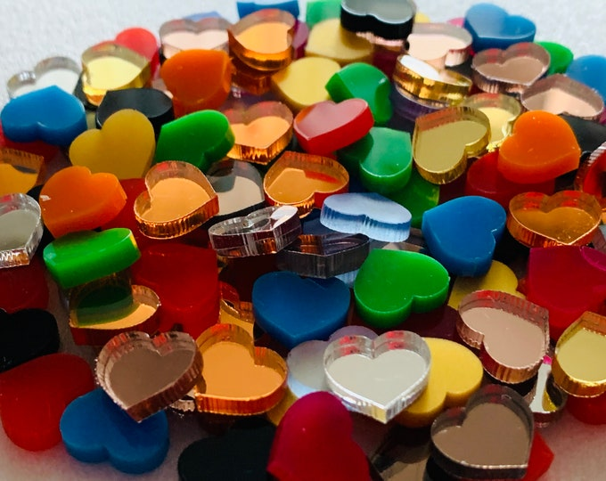 Mini Heart Confetti Wedding Confetti Set Acrylic Small Hearts Mirror Love Laser Cut Hearts Birthday Confetti Bridal Shower Party Decorations