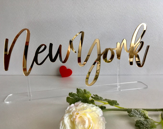 Table Cities Signs Tabletop City Sign Base Personalized Custom Names Calligraphy Laser Cut Acrylic Freestanding Reception Decor Event Party