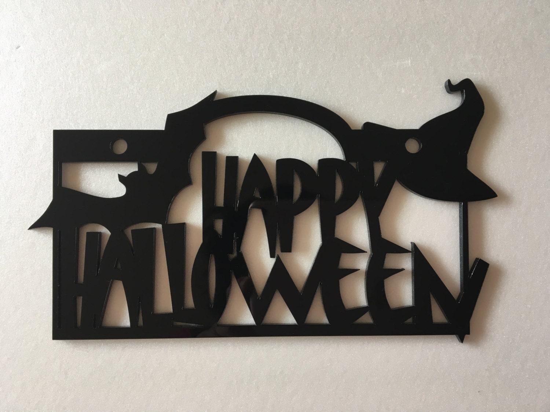 Halloween home decor Happy Halloween Door signs