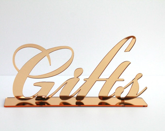 Gifts Table Sign Wedding Reception Decorations Reception Sign for Wedding Bridal Shower Birthday Party Decor Event Freestanding Letters