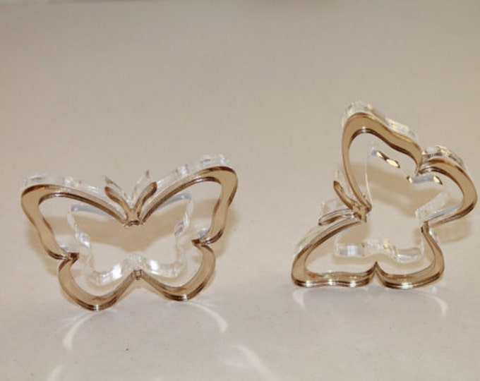Butterfly napkin ring holders Wedding napkin rings Bridal shower Table decor Gold butterfly Wedding party favors Acrylic holders Any color