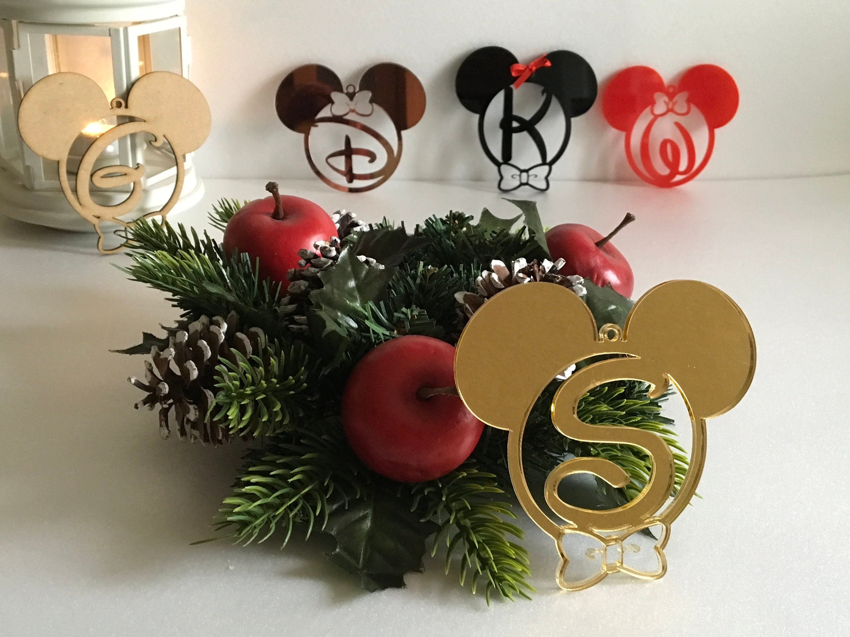 Mickey Mouse Christmas Ornament Monogram Initial Disney