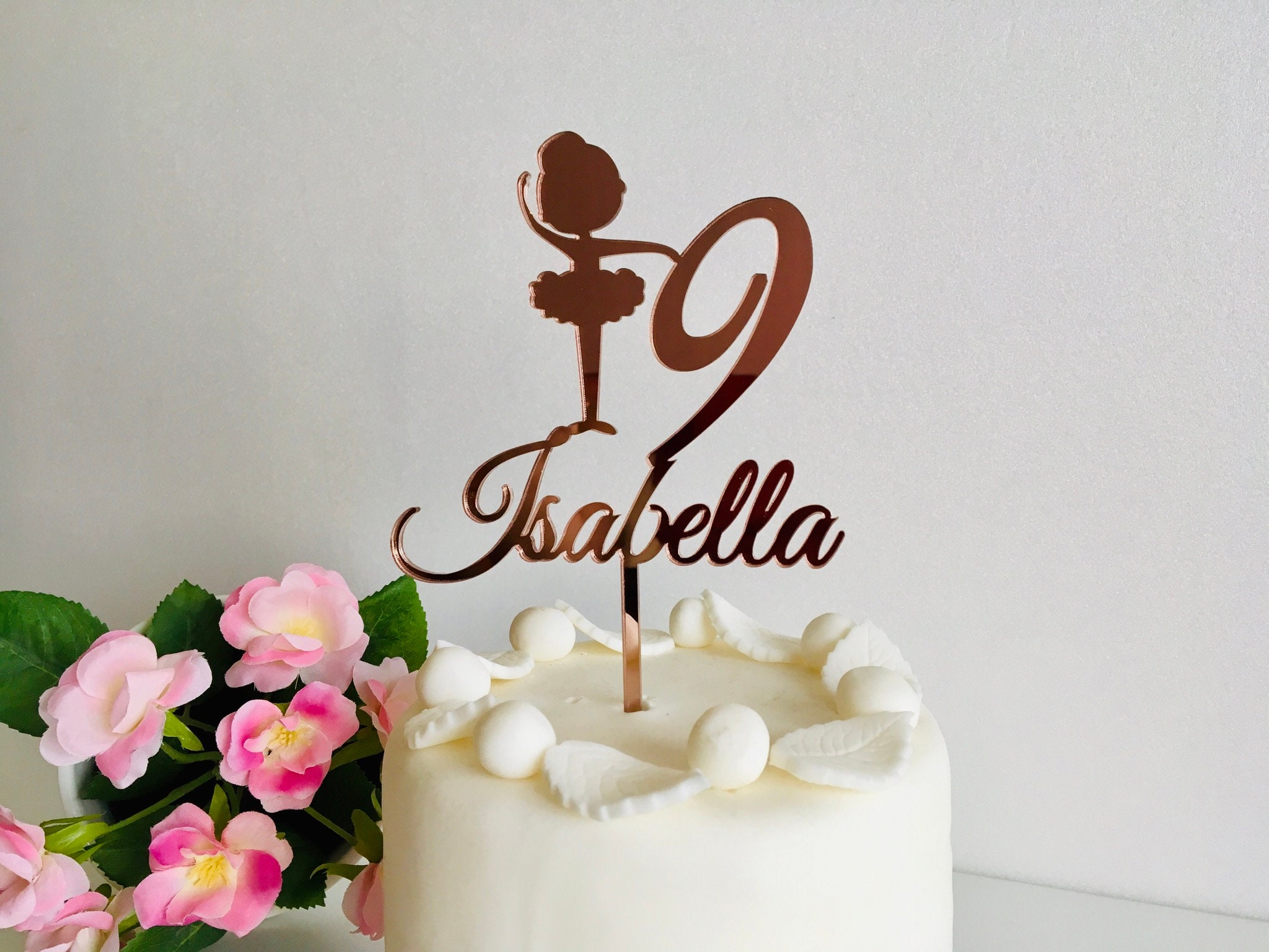 Strange Personalized Any Name Cake Topper For Girl Any Age Custom Personalised Birthday Cards Paralily Jamesorg