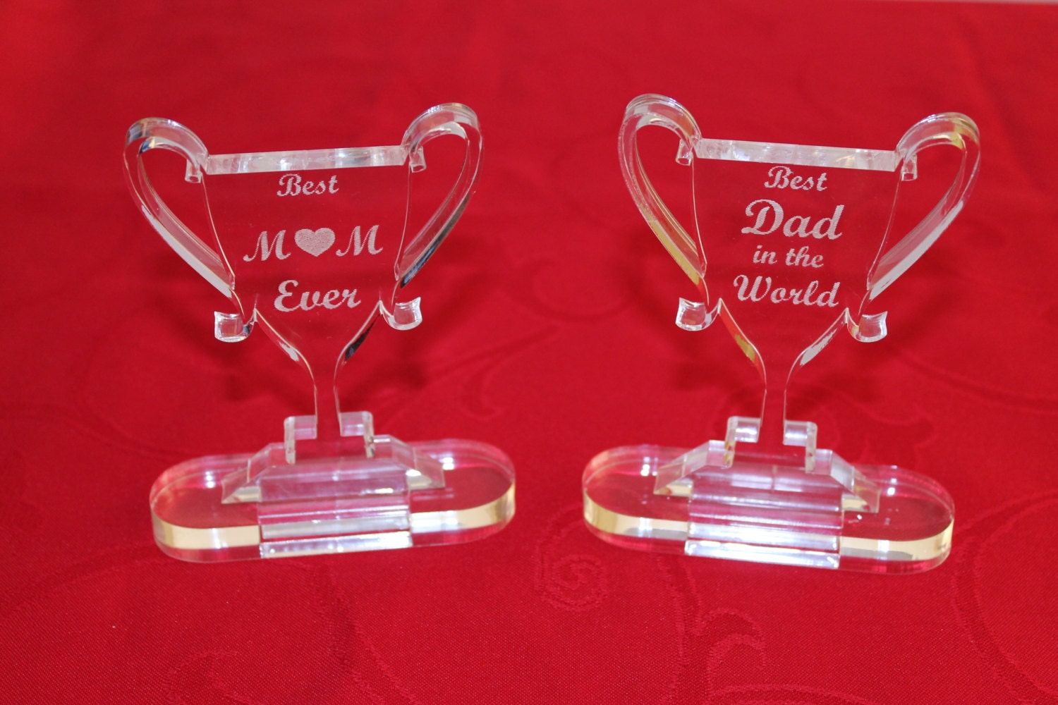 Personalised Trophy Best Mum Gift For Dad Ever Happy