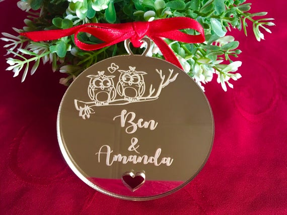 Personalized Ornament Custom Christmas Gifts For Couples Our First Valentines Day Personalised Bauble Tree Decorations Boyfriend Girlfriend