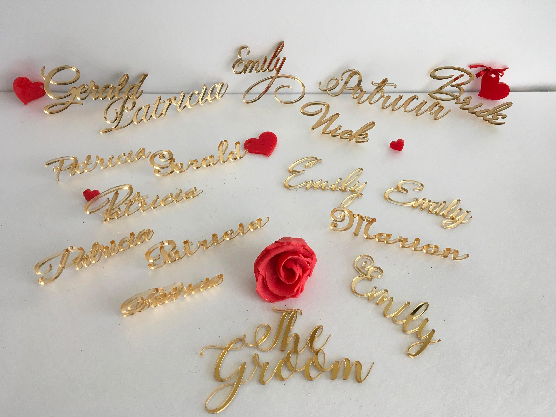 Wedding Place Cards Custom Names Laser Cut