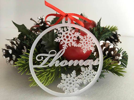 Christmas Tree Decorations Names.Personalized Christmas Name Ornaments Holiday Tree Decorations Christmas Family Gifts Gold Name Tags Xmas Decor Laser Cut Name Bauble Custom