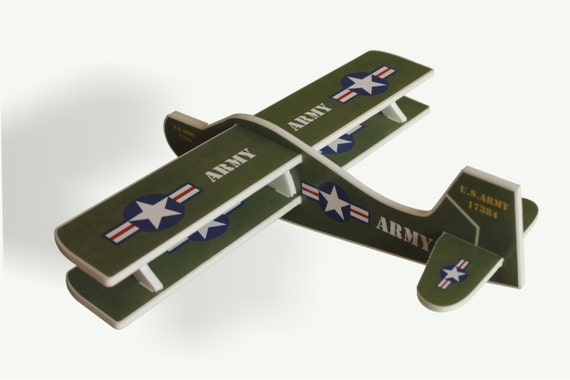 Airplane toy, US army, Toy glider, Airplane styrofoam, Biplane, Military action figures, Military airplane, Airplane aviation party