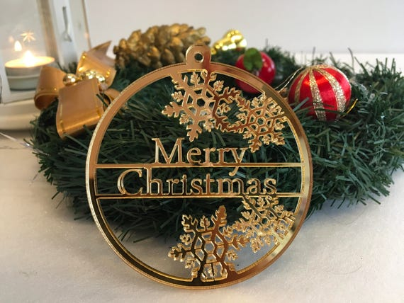 Personalised baubles Merry Christmas bauble Happy New Year Tag Xmas Gifts Tree ornaments Christmas family present Christmas tree decorations