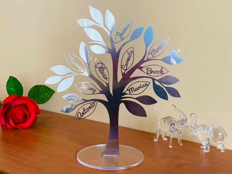 Personalized Family Name Tree Freestanding Ornament Custom image 1