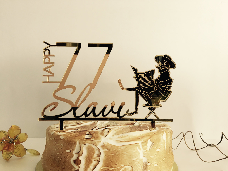 Personalised Cake Topper Happy Birthday Custom Name Age