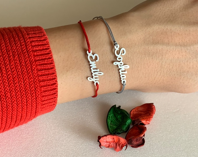 Personalized Name Bracelet Jewelry Stainless Steel Custom Gift for Her Handmade Bracelet for Women Men Customize Your Name Valentine's Gift