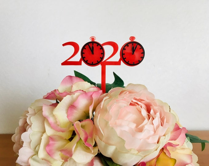 2022 New Year Celebration Cupcake Toppers 20s Theme Cake Topper Table Decorations Centerpiece Stir Sticks Ornament Clock Christmas 2021Xmas