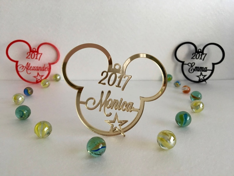 Personalised Christmas Name Bauble Tree decorations image 0