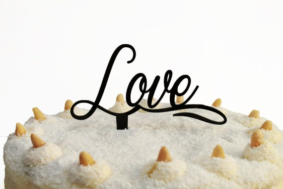 Love Cake Toppers Valentines Day Party Decorations Centerpiece Personalized Cupcake Custom Gold Wedding Sign Engagement Cake Anniversary Tag