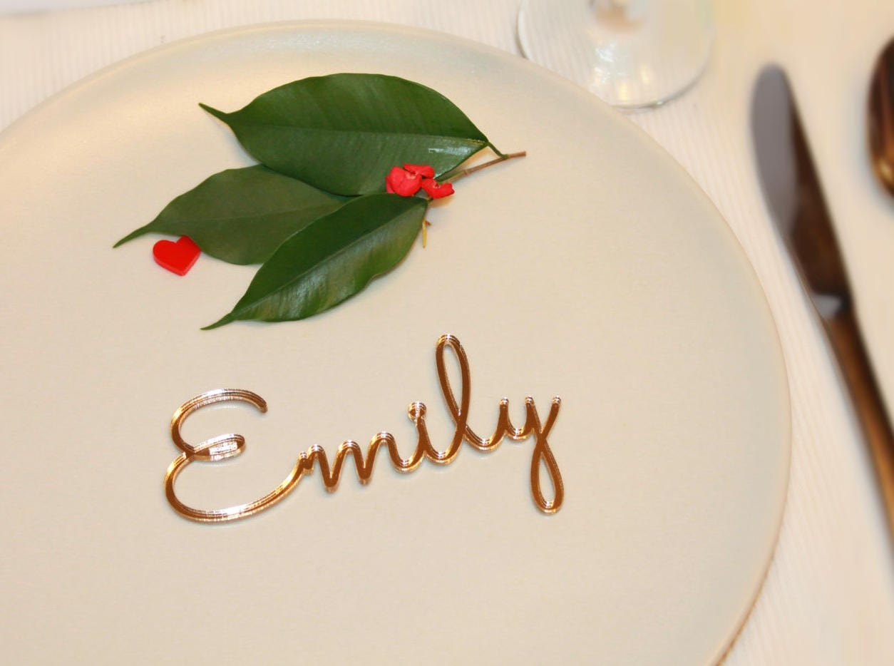 Personalized place cards Place name settings Guest names Acrylic ...