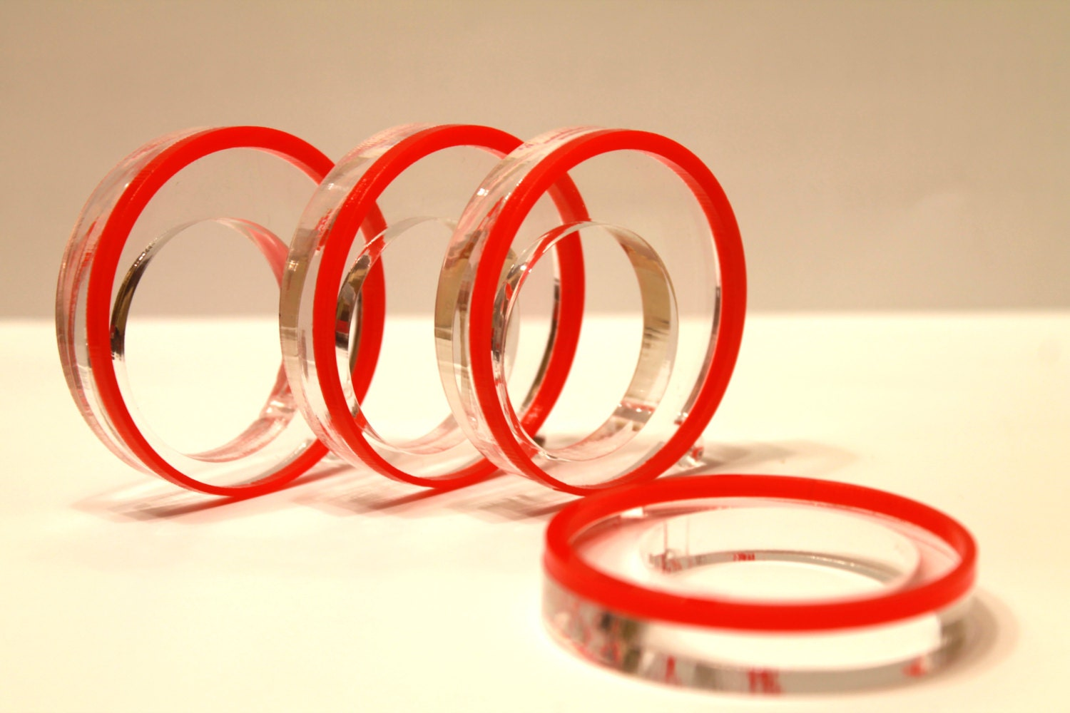 Red Napkin Rings Dinner Party Centerpiece Wedding Napkin Ring Holders Table Decor Circle Napkin Rings Mother S Day Gift Table Decorations