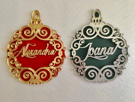 Personalised Luxury Christmas Name Bauble Xmas gifts Christmas Keepsake Christmas tree decoration Name tree bauble Custom hanging ornaments
