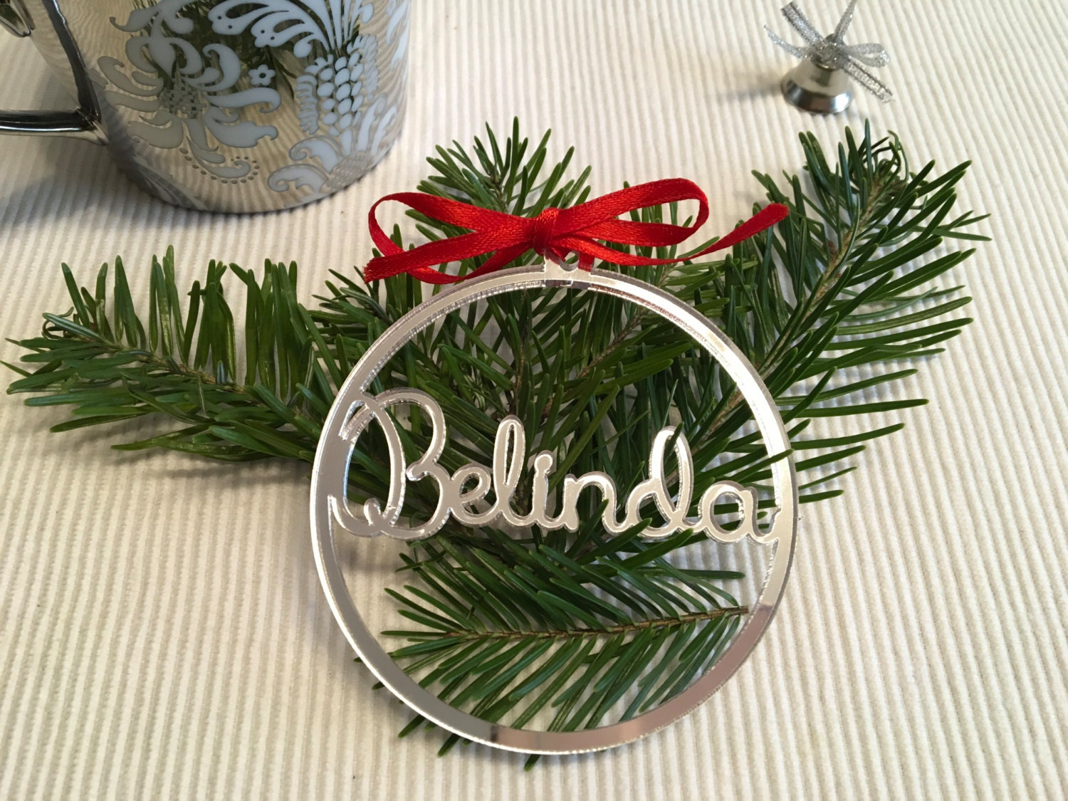 personalised christmas bauble personalized names gift tags xmas