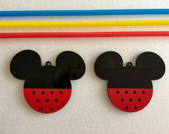 Mickey Mouse Party Decorations Minnie Mouse Happy Birthday Mickey Mouse Ornaments Mickey Mouse Nursery Wall Decor Handmade Hanging Bauble