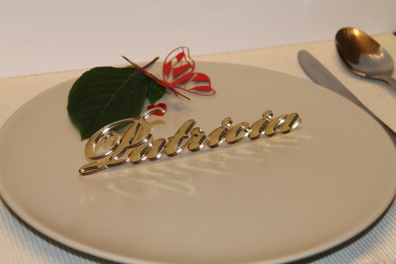 Name place settings Laser cut names Guest names Wedding place image 0