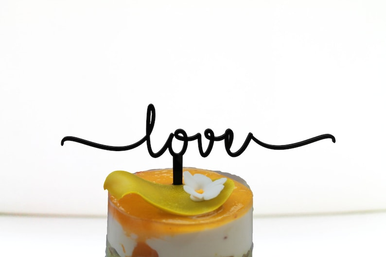 Love Wedding Sign Cake Toppers Valentines Day Decor Engagement image 0