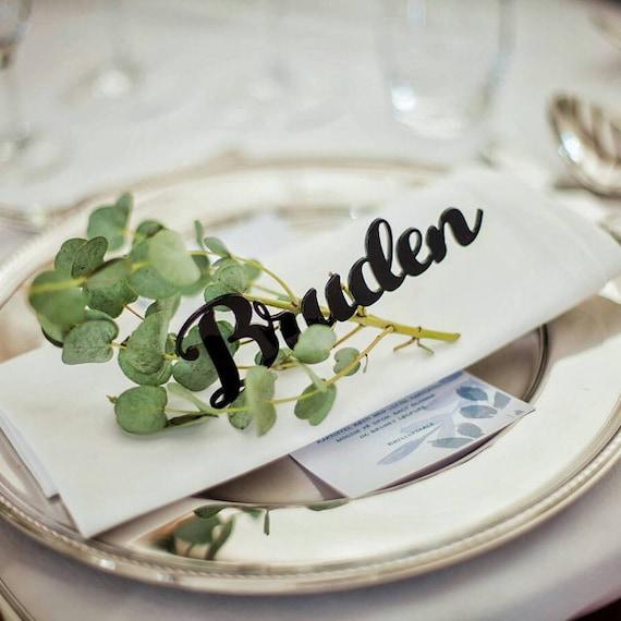 Wedding place cards Laser cut names German wedding Acrylic Laser geschnittene namen Hochzeit tischkarten Platz-Karten Platzkarten servieren