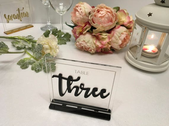 Wedding Luxury Table Numbers Reception Custom Signs Modern Centerpiece Laser Cut Acrylic Clear Table Numbers Freestanding Event Decorations