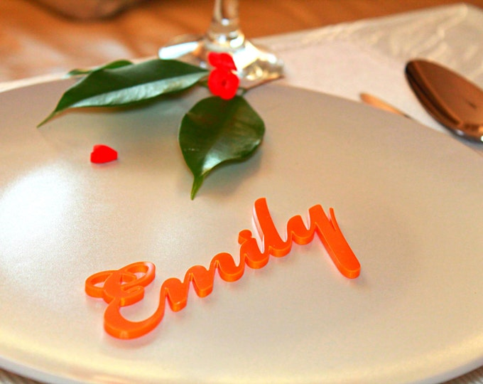 Personalized Wedding Place Cards Laser Cut Names Table Decor For Weddings Guest Names Name Place Settings Wedding Table Ideas Escort cards
