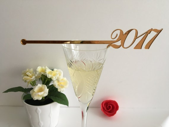 Happy New Year 2020 Party Champagne Stirrers New Year Party Decorations Personalized Holiday Swizzle Sticks New Year's Eve Xmas Cocktail
