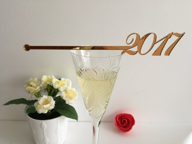 Happy New Year 2021 Party Champagne Stirrers New Year Party image 0