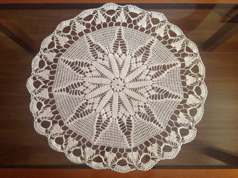 Handmade Doily Crochet Large Cotton Tablecloth Decoration Handmade