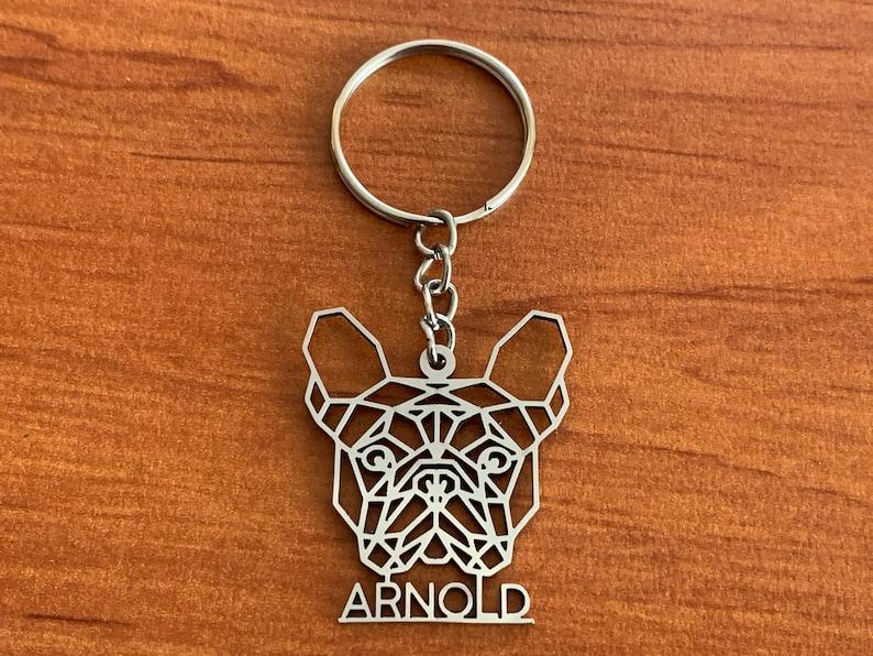 Personalized Dog Keychain Custom Design Customized Dog Breed image 0