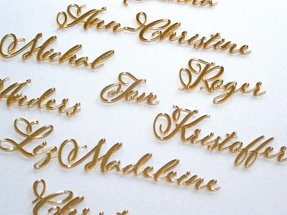 Personalized Laser cut names Wedding place table cards Wedding stationery Wedding name cards Place name settings Wedding decor Table seating