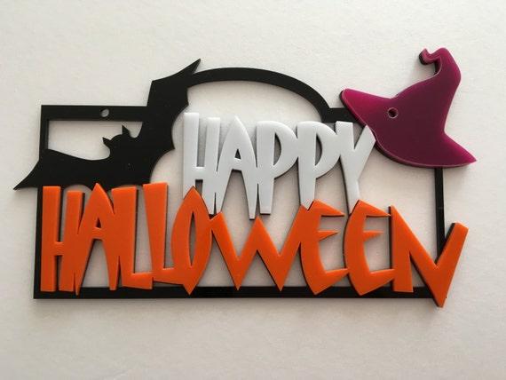 Happy Halloween Sign Spooky Door Sign, Pumpkin Sign Halloween Decoration Halloween Door Sign Holiday Sign Halloween Gift Halloween ornaments