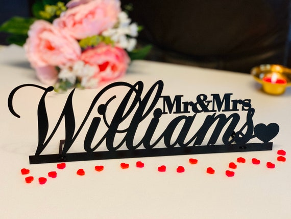 Personalized Name Sign Last Name Decorative Surname Name Sign Custom Name sign