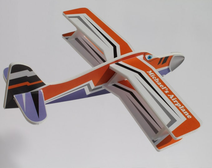 Personalized Airplane with Name Customized Toys Birthday Gifts Custom Gift for Boy Foam Airplanes Flying Air Planes Kids Craft Aeroplane