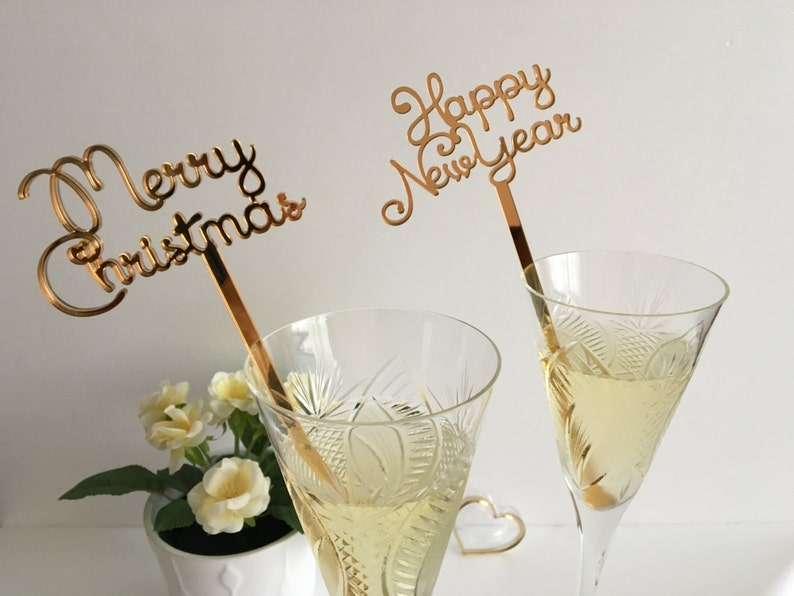 Merry Christmas New Years Party Decorations Swizzle sticks image 0