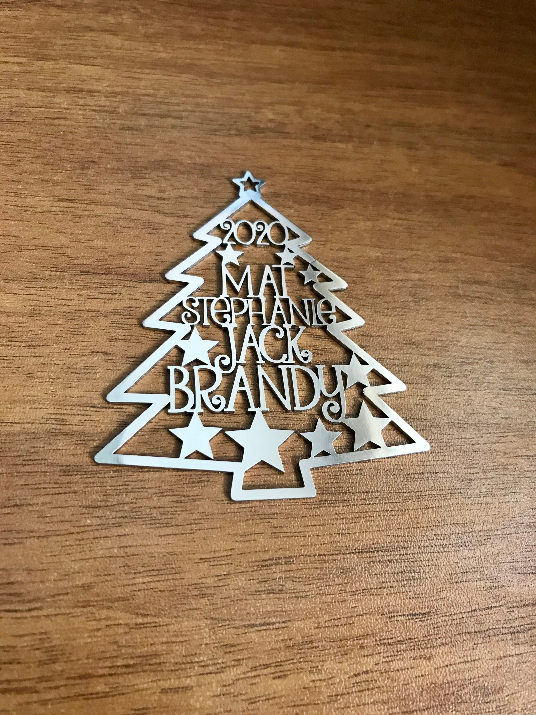 Personalized 2020 Christmas Tree Ornaments Custom Family ...