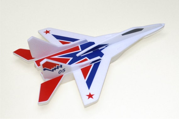 Airplane jet Model MiG 29 Air Jet Glider Aeroplane Aircraft kit Airplane birthday decorations Airplane puzzle Aircraft model Gift for a boy